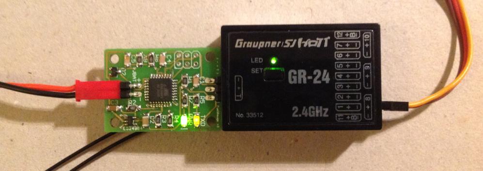 Batterijduur indicator printplaatje